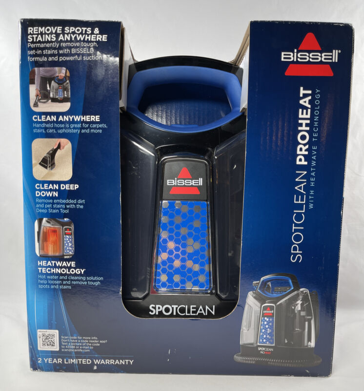 Bissell SPOTCLEAN PROHEATwith Heatwave Technology NIB