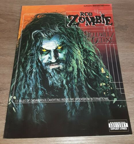 ROB ZOMBIE - HELLBILLY DELUXE - GUITAR TAB BOOK - TABLATURE - MUSIC SONGBOOK