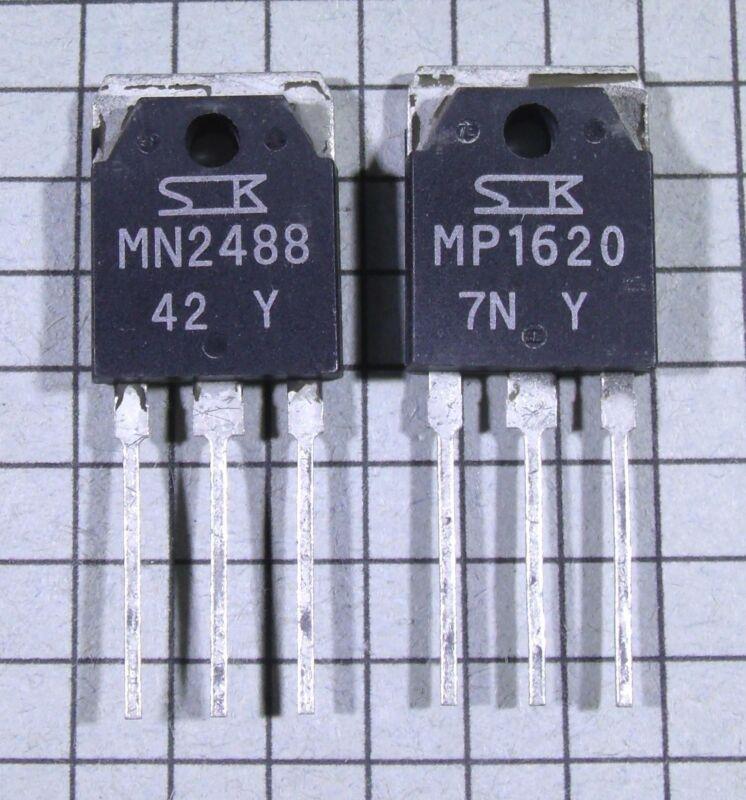 MN2488-Y & MP1620-Y Power Transistors : 1 pair ( 1 each ) per Lot
