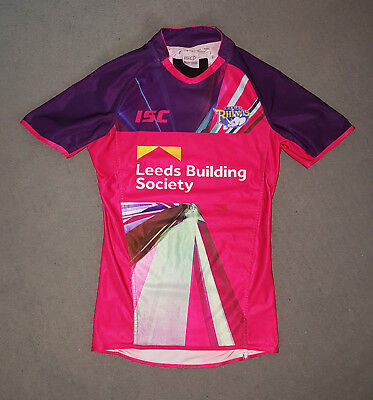Player-Issue Leeds Rhinos training shirt - Ash Handley. Size Small