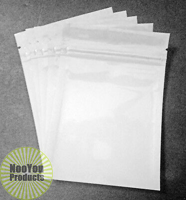 25 White 3.5x5 Aluminumfoil Pouches Mylar Ziplock Bags Smell Proof Packaging