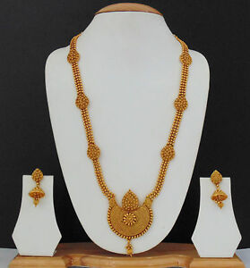 Indian Ethnic Jewelry Bollywood Necklace Earrings Gold Plated Traditional Set i
