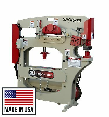 New 75 Ton Iroquois Hydraulic Ironworker Punch Press Shear Spp4075 Full Warranty