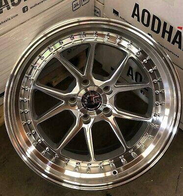 Aodhan DS08 Wheels Silver Machined 18x8.5 / 18x9.5 5x120 +35 Rims 18 Inch Set 4