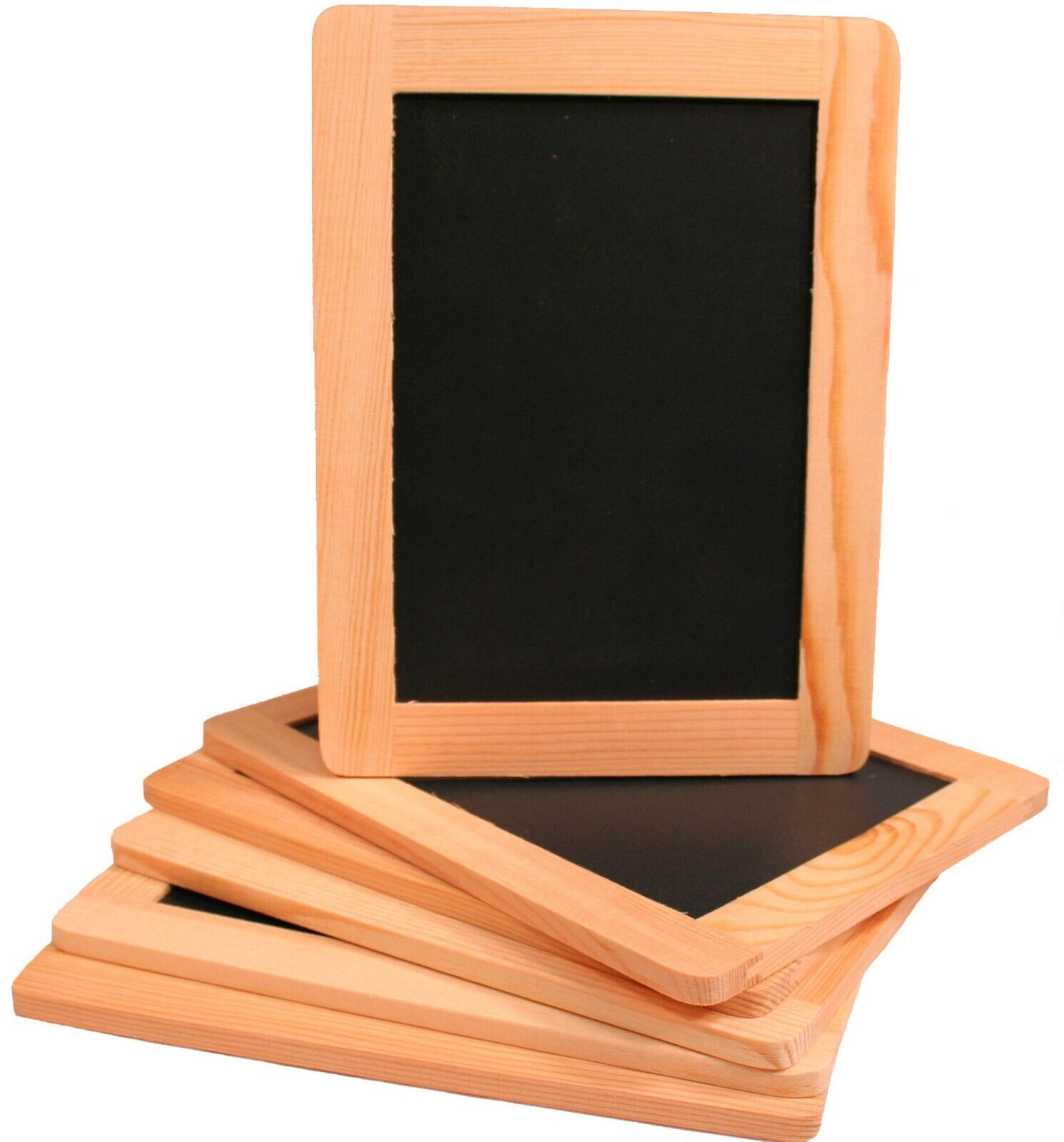 Creative Hobbies 4 x 6 Inch Synthetic Chalkboard w/ Unfinished Wood Frame 6 Pack Home & Garden