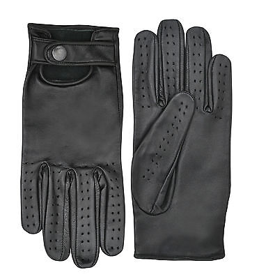 Soft Leather Classic Retro Driving Gloves Fashion Dressing Unlined Limo -