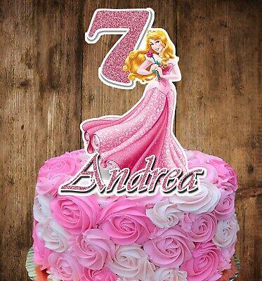 Princess Aurora (SLEEPING BEAUTY) Cake Topper (PERSONALIZED)