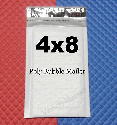 65 Small Poly Bubble Envelopes 000 4x8 Self-sealing Padded Mailers