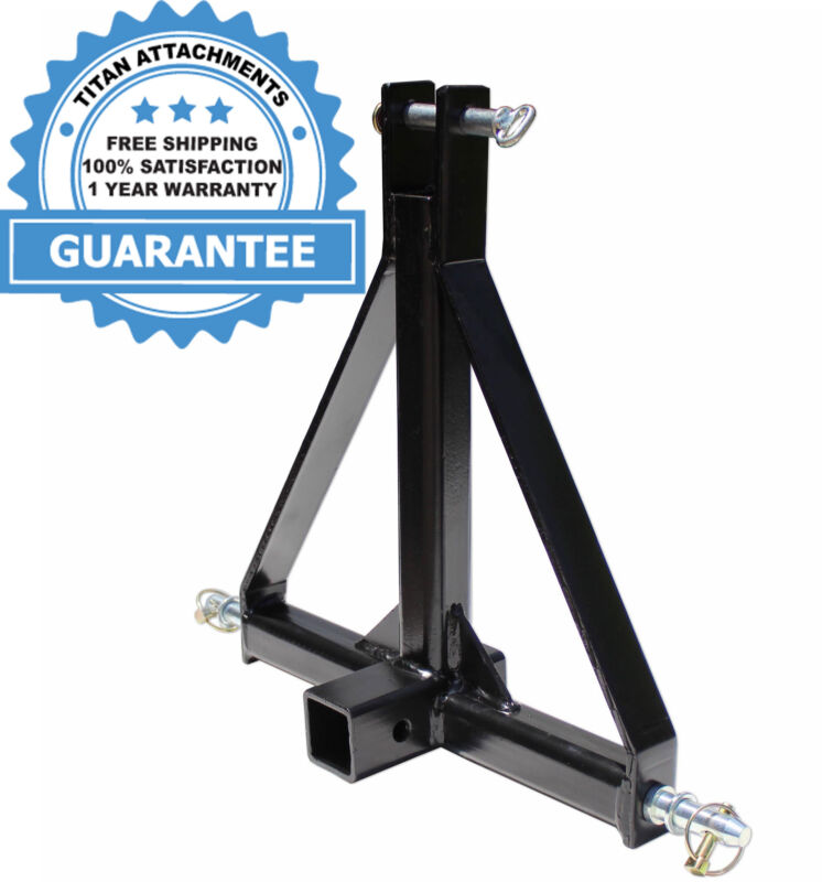 Titan Standard Hitch Receiver Adapter for Farm Equipment and Standard Trailers
