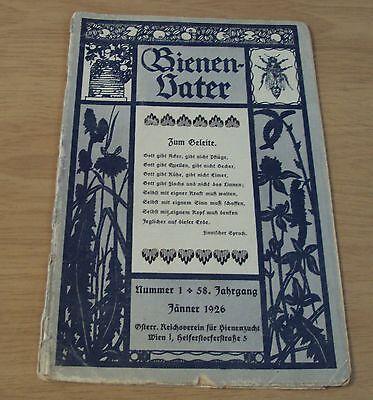 "1926 German BEEKEEPING Magazine~""BIENEN VATER"" Ads/Illustrated/Photos~"