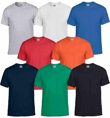 Plain Crew Neck Tee (Gildan Mens DryBlend Adult Plain Crew Neck T-Shirt Tee Tshirt Cotton & Polyester)