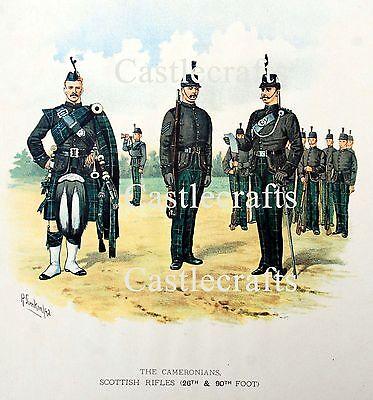 SCOTTISH RIFLES THE CAMERONIANS- A4 COLOUR PICTURE