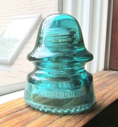 NICE AMBER SWIRLED CD 162 HEMINGRAY SIGNAL STYLE GLASS INSULATOR