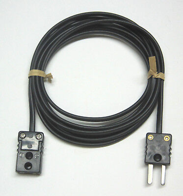 J-type Thermocouple Extension Cable Wire With Miniature Mini Connectors 3-15 Ft