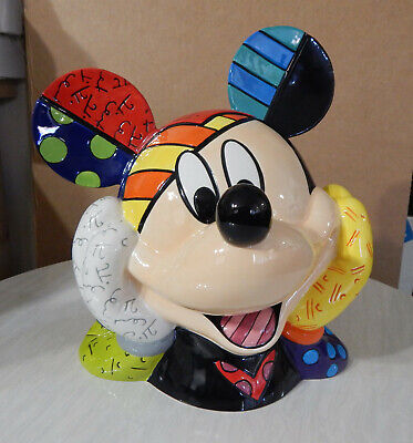"""RARE Mickey mouse """"Britto"""" cookie jar # 168 of only 2000 made. NEW Original box!"""