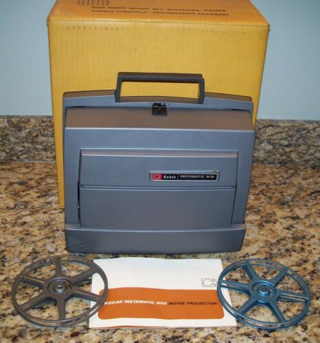 Kodak Instamatic M80 Super 8MM Movie Projector w/Box & Manual, Original Owners