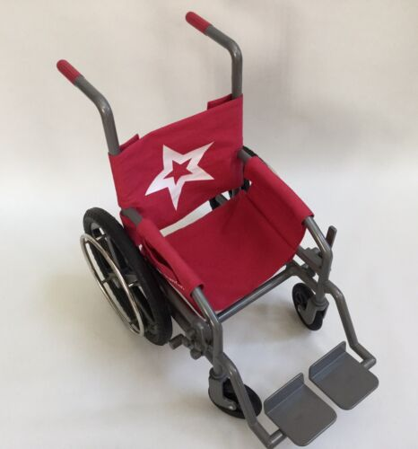 Photo  American Girl Wheel Chair Wheelchair Red fits 18 in Doll