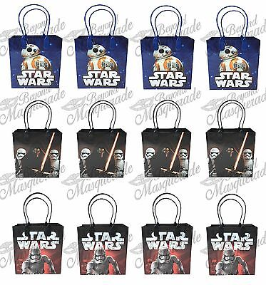 Disney Star Wars Party Favor Supplies Goody Loot Gift Bags [12ct] - Stars Wars Party Supplies