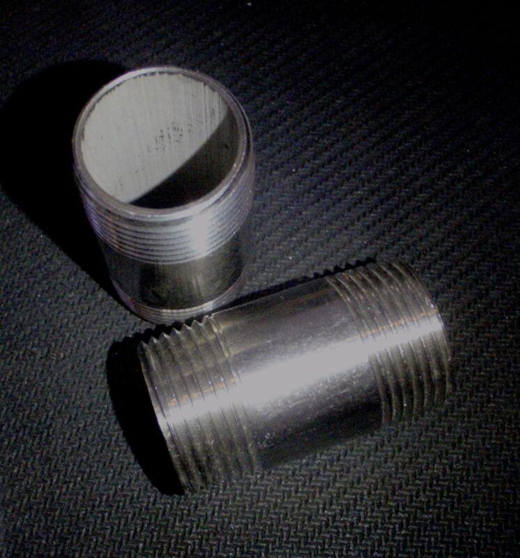 """STAINLESS STEEL NIPPLE 1 1/4"""" NPT x 4"""" LONG PIPE NP-125-040"""