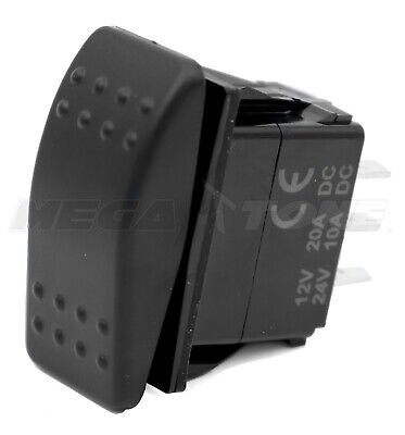 Spdt Waterproof 20a 1224vdc Momentary Rocker Switch On-off-on Usa Seller