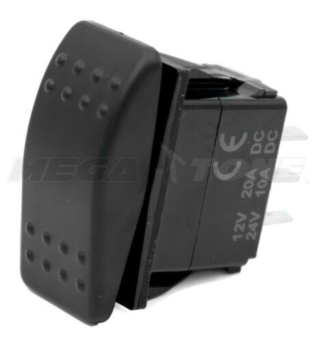 DPDT Waterproof 20A 12/24VDC Momentary Rocker Switch (ON)-OFF-(ON) USA SELLER!!!