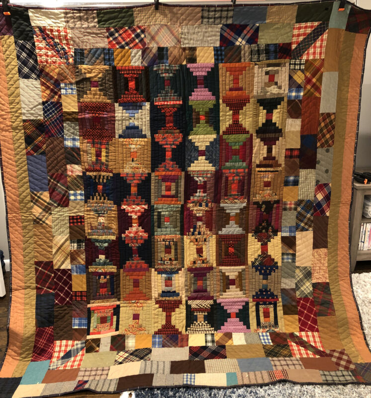 Beautiful Antique Courthouse Steps Quilt