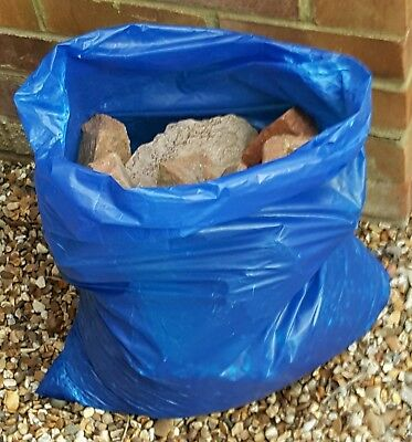 100 BLUE EXTRA STRONG HEAVY DUTY RUBBLE SACKS BUILDERS WASTE 30Kg HIGH STRENGTH