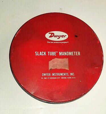 Dwyer 1211-72 Slack Tube Manometer 72 Wg Range ....light Use Unit 2