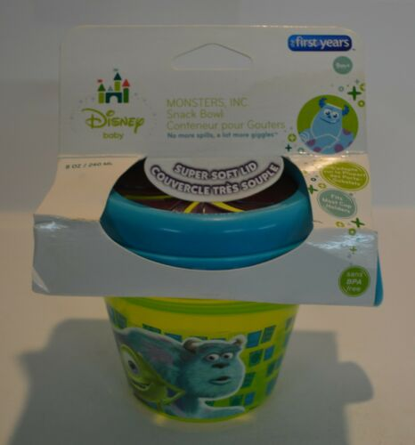 The First Years Monsters Inc Spill-Proof Snack  Bowl NEW