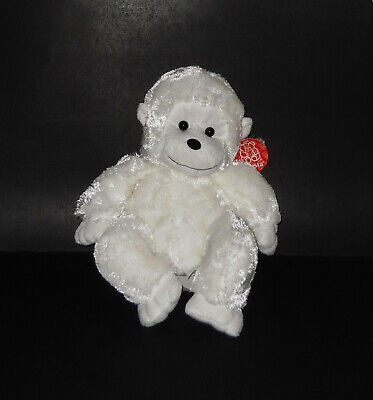 CUTE FIESTA WHITE BABY MONKEY CHIMP STUFFED ANIMAL SOFT PLUSH LOVEY TOY NWT