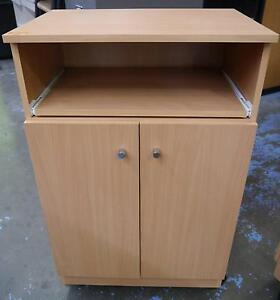 New Beech Mobile Trolley Microwave Cabinet Storage Bench Tray Melbourne CBD Melbourne City Preview