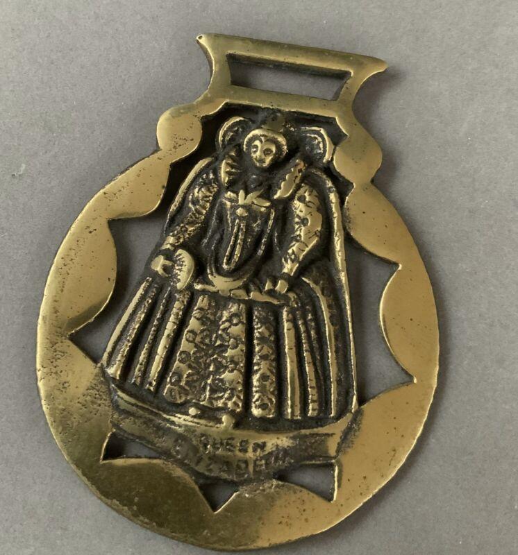 Queen Elizabeth I Vintage Horse Brass