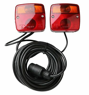 Anhängerbeleuchtung magnetisch Rücklicht Rücklichter mit Kabel und Stecker