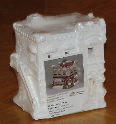 Vtg California Creations - Corner Store 97008 Holiday Village Building - Sealed