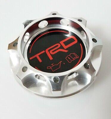 TRD Racing Silver Engine Oil Filler Cap Oil Tank Cover Aluminium For TOYOTA
