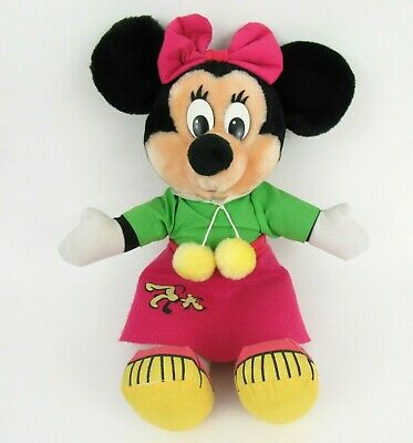 Vintage Disney Parks Minnie Maus Plüsch Socke Hopfen Pudel Rock 1987 Disney Land
