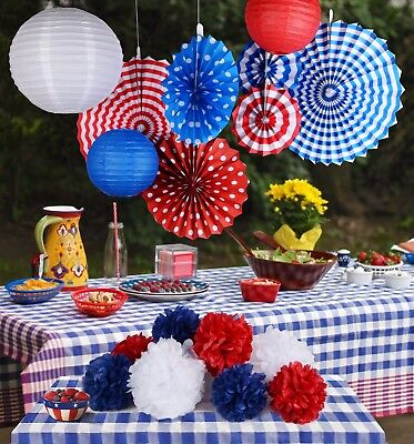 rty decoration for memorial day veteran's day July 4th kit 2 (Patriotic Party Dekorationen)