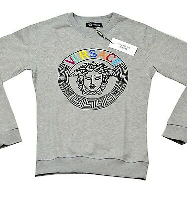 100% authentic sweatshirt -jersey Versace  grey  size M