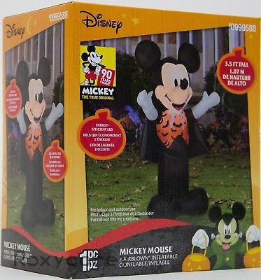 Halloween Disney 3.5 ft Mickey Mouse Vampire Lighted Yard Airblown - Mickey Halloween Inflatable