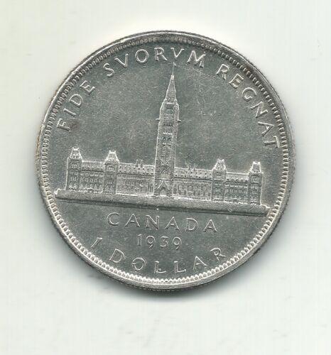 A VINTAGE HIGH GRADE UNC 1939 CANADA SILVER DOLLAR COIN-FEB210