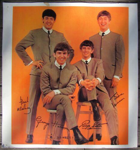 "THE BEATLES PROMO POSTER NEMS ENTERPRISES LTD, 1964 BIRTHDAY CALENDAR 23"" X 25"""