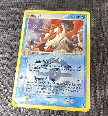 Pokémon KINGLER 26/112 EX FIRE RED LEAF GREEN REFRACTOR HOLO 2004