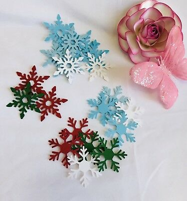 30 Snowflakes Paper CUT OUTS/EMBELLISHMENTS