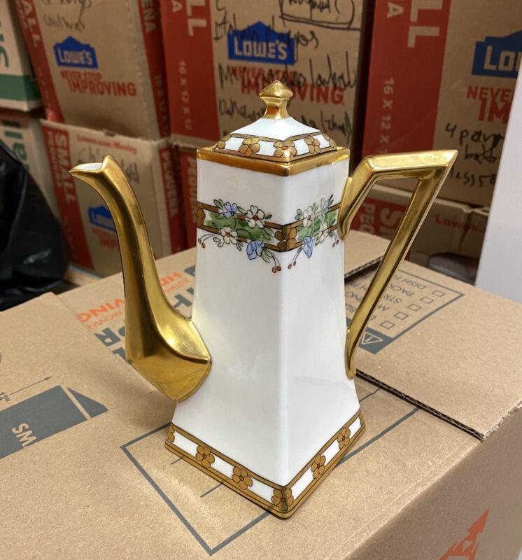antique Pickard Arts & Crafts square coffee pot teapot exc