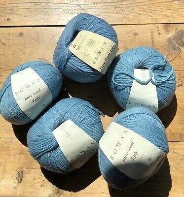 Rowan Pure Wool 4 Ply Yarn Color 450 Eau De Nil Lot 5 Skeins 174 Yards Each 4 Ply Wool Yarn