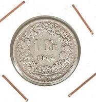 Switzerland ( Suiza ) : 1 Franc 1914 B ( Silver ) -  - ebay.es