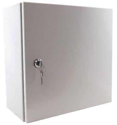 "YuCo YC-16X16X10-UL-FE-EL-2-KF Nema Type 4 Enclosure with Lock & Key 16"" 16"" 10"""