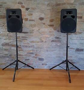Hire DJ PA system, Bluetooth Speakers, stands and Sure microphone Point Cook Wyndham Area Preview
