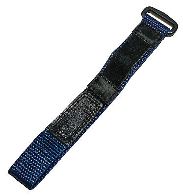 Speidel 12-16mm Blue & Black Nylon Hook & Loop Performance watch strap ()