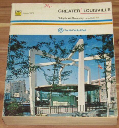 OCTOBER 1970 GREATER LOUISVILLE KENTUCKY TELEPHONE DIRECTORY, AREA CODE 502